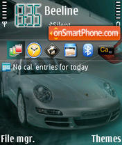 Porsch 911 S4 es el tema de pantalla
