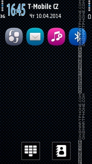 Cyan in Style tema screenshot