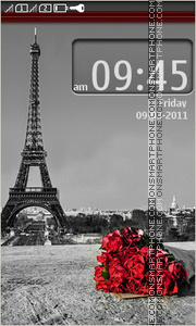 Скриншот темы Paris - City of Love