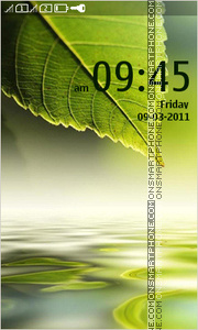 Green Leaf 05 theme screenshot