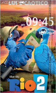 Rio 2 Cartoon 01 tema screenshot