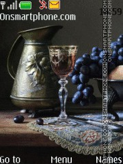 Still life with grapes tema screenshot