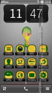 Brazil 2014 World Cup 01 theme screenshot