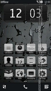 Dark Drops tema screenshot