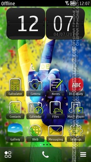 Fifa Brazil 2014 Cup theme screenshot