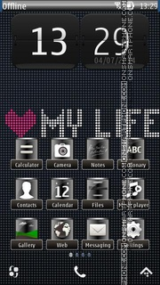 My Life 01 theme screenshot