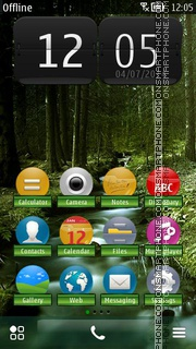 Waterfall in Forest theme screenshot