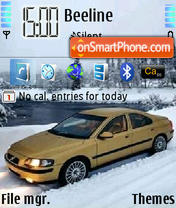 Volvo S60 Gold 2 theme screenshot