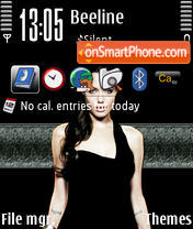 Angelina Jolie 13 theme screenshot
