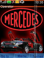 Mercedes Cabrio theme screenshot