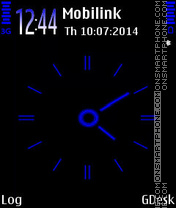 Blue clock theme screenshot