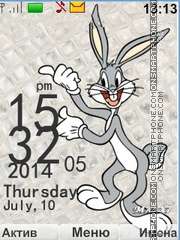 Bugs Bunny theme screenshot