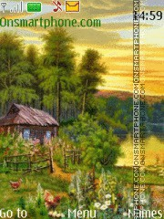 Small house at the river theme screenshot