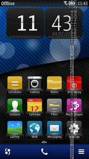 Blue Bokeh 01 theme screenshot