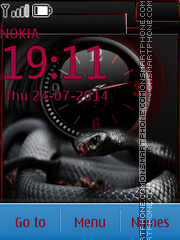 Dark Snake theme screenshot