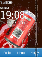 Coca Cola tema screenshot