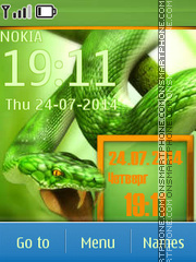 Snake tema screenshot