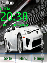 Скриншот темы Lexus LFA 03