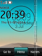 LG G3 Clock tema screenshot