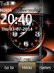 Скриншот темы Nokia Abstract Dual Clock