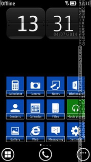 WP8 Blue theme screenshot