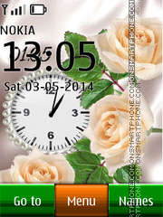Flower dual clock 07 theme screenshot
