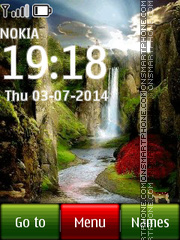 Waterfall in Venezuela tema screenshot