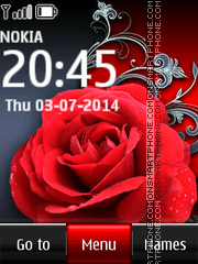 Red Rose 11 theme screenshot