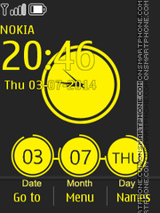 Spot Color Clock theme screenshot