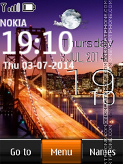 Night bridge live clock tema screenshot