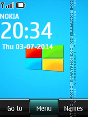 Windows Clock 03 tema screenshot