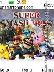 Super Smash Bros theme screenshot