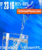 Water 01 es el tema de pantalla