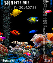 Aquarium theme screenshot