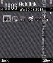 Скриншот темы Gray black