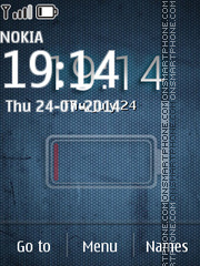 Glass Blue Clock Battery theme screenshot