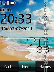 Sand beach live clock theme screenshot
