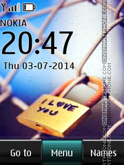 Love lock 01 theme screenshot