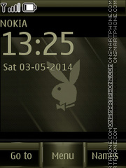 Playboy Logo 03 tema screenshot