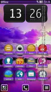 Purple Sea HD theme screenshot