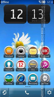 Light Camomile tema screenshot