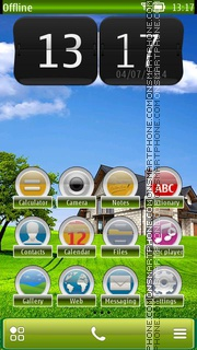 Sweet Home HD tema screenshot