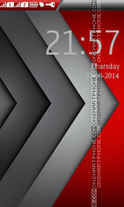 Abstract Red Background theme screenshot