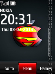 Скриншот темы Superman apple