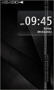 Скриншот темы Stunning Black