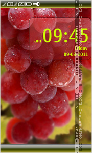 Juicy Grapes tema screenshot