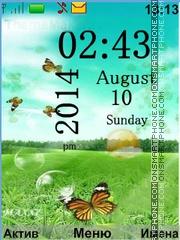 Nature+Butterflies theme screenshot