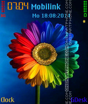 Multicoloured flower es el tema de pantalla