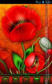 Poppies tema screenshot