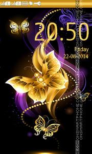 Golden Butterfly tema screenshot